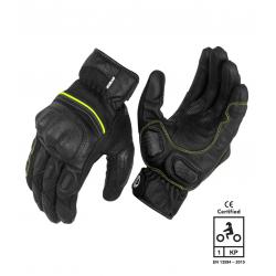 Rynox Tornado Pro 3 Gloves Hi-Viz Green