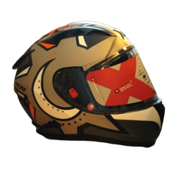 Axor Street Wolf Matt Orange Helmet