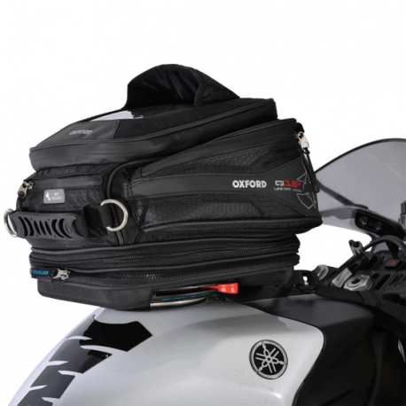 Oxford Luggage Q4R Quick Release 4 Litre Motorcycle Motorbike Tank Bag Black