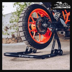 Byke'it! Rear Paddock Stand is a universal paddock stand suitable for a wide range of motorcycles with a double swing arm. Its durable and modular construction makes it easy-to-assemble and easy-to-store.Suitable for most motorcycles up to 400 kg (not for models with a single arm swing)Byke'it! Rear Paddock Stand for ₹4,899, link in bio.📞: 9769902249 for queries#AHHelmets #Helmets #HelmetsInIndia #Bikers #Bike #BikeLife #MotorCycle #MotorBike #MotorCycles #BikeRide #MountainBike #RoadBike #Racing #Cruising #Wheels #InstaMotorCycle #InstaMoto #InstaBike #InstaMotor #Bikestagram #Biker #Moto #BikersOfInstagram #Ride #BikePorn #Motor #BykeIt