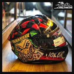 Ever looked at a helmet and wished you had it.This graphic just might do that for you. The audacity in the graphic combined with a joker's impression and gloss finish is one to look out for! It comes with a Pinlock Max Vision ready Visor. MT Targo Joker Helmets for ₹5,750, link in bio. 📞: 9769902249 for queries We accept Bajaj EMI. #AHHelmets #Helmets #HelmetsInIndia #Bikers #Bike #BikeLife #MotorCycle #MotorBike #MotorCycles #BikeRide #MountainBike #RoadBike #Racing #Cruising #Wheels #InstaMotorCycle #InstaMoto #InstaBike #InstaMotor #Bikestagram #Biker #Moto #BikersOfInstagram #Ride #BikePorn #Motor #MTHelmets #MTHelmet