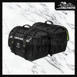 - In-built waterproof inner drybag to ensure 100% waterproofing without the hassles of raincovers - Reflective Drystack logo for added visibility - Abrasive and protective Foam leather for extra durability and shape retention - Double-D Loop Mechanism + Rynox Trellis/Foot pegs Straps with easy release buttons (Detachable) to ensure quick and secure mountingCapacity: - Main Compartment- Holds 60 Lt - 2 Outer pockets- Holds 3 Lt. - 2 Bottle pockets with tightening Strap- Hold 2 x 1 Lt. BottleRynox Drystack Waterproof Saddlebags at ₹3,450, link in bio.📞: 9769902249 for queries#AHHelmets #Helmets #HelmetsInIndia #Bikers #Bike #BikeLife #MotorCycle #MotorBike #MotorCycles #BikeRide #MountainBike #RoadBike #Racing #Cruising #Wheels #InstaMotorCycle #InstaMoto #InstaBike #InstaMotor #Bikestagram #Biker #Moto #BikersOfInstagram #Ride #BikePorn #Motor #Rynox