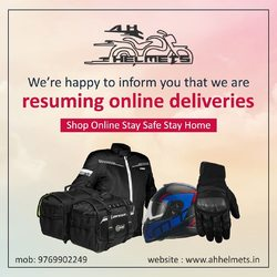 We are now accepting online orders. Before you make a payment or confirm you order, please send your pin code on WhatsApp so we can confirm delivery in your zone with your name and the products you wish to buy. Additional shipping charges will be applied. 📞: 9769902249 for queries Website link in bio. We accept Bajaj EMI. #AHHelmets #Helmets #HelmetsInIndia #Bikers #Bike #BikeLife #MotorCycle #MotorBike #MotorCycles #BikeRide #MountainBike #RoadBike #Racing #Cruising #Wheels #InstaMotorCycle #InstaMoto #InstaBike #InstaMotor #Bikestagram #Biker #Moto #BikersOfInstagram #Ride #BikePorn #Motor