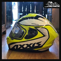 NEW AXXIS Designs 💥- Full face Helmet - High impact polycarbonate shell for improved strength - Pinlock ready max vision visor, equipped to attach/detach Anti-fog inserts - Weight is 1450 Gram, it is one of the best lightest helmets in IndiaAxxis Helmets for ₹4,200, link in bio.📞: 9769902249 for queries#AHHelmets #Helmets #HelmetsInIndia #Bikers #Bike #BikeLife #MotorCycle #MotorBike #MotorCycles #BikeRide #MountainBike #RoadBike #Racing #Cruising #Wheels #InstaMotorCycle #InstaMoto #InstaBike #InstaMotor #Bikestagram #Biker #Moto #BikersOfInstagram #Ride #BikePorn #Motor #AxxisHelmets #AxxisHelmet